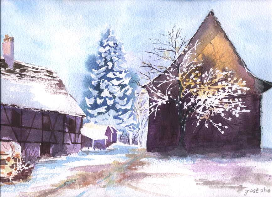 Les aquarelles et illustrations de josphe maisons for Abeilles mortes dans la maison