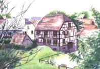 Au coeur d'un village alsacien