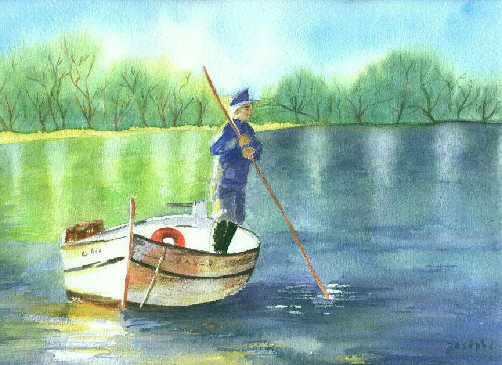 L'homme à la barque