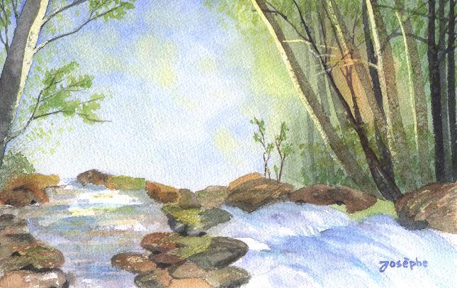 Promenade au bord du ruisseau